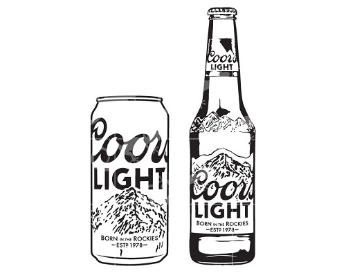Download Coors Light Beer Bottle and Can - Alcohol Design Elements SV