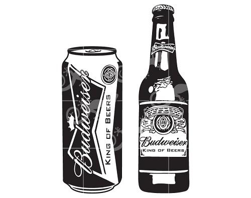 Download Budweiser Beer Bottle and Can SVG Design-LLD_DE44_BBBC